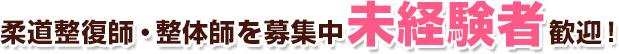 柔道整復師・整体師を募集中 未経験者 歓迎!